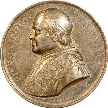 Vatican, Pie IX, médaille annuelle, Manufacture des Tabacs, 1863/XVIII Rome