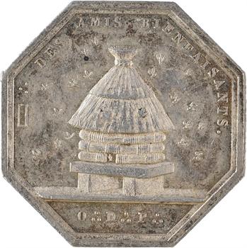 Louis XVIII, Orient de Paris, loge des Amis Bienfaisants, par Oblin, s.d. (1816) Paris