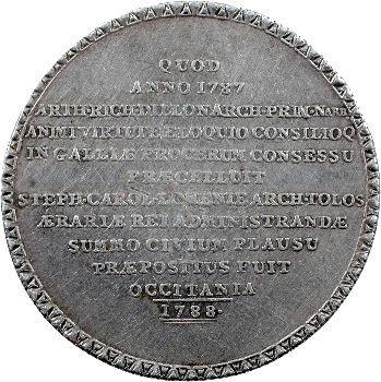 Louis XVI, les États de Languedoc, grand jeton, 1787
