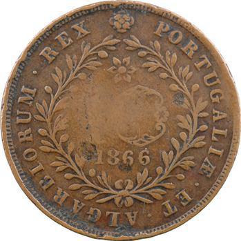 Portugal, Açores, Louis Ier, 10 réis 1866