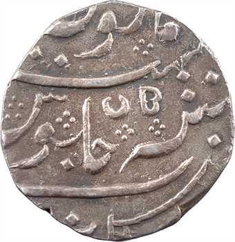 Indes françaises, Louis XV et Shah Alamgir II, roupie, AH 1172/5 (1759) Arcate