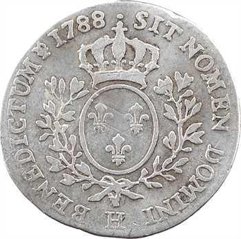 Louis XVI, dixième d'écu aux branches d'olivier, 1788 La Rochelle