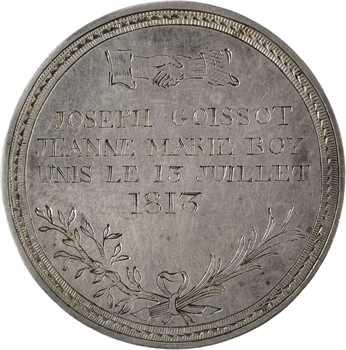 Premier Empire, médaille de mariage en taille directe, 1813