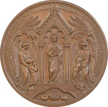 Oudiné : médaille du baptême à la confirmation, 1877 Paris