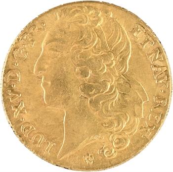 Louis XV, double louis d'or au bandeau, 1755 Metz