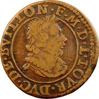 Sedan (principauté de), Frédéric-Maurice de La Tour, double tournois 14e type, 1638 Sedan