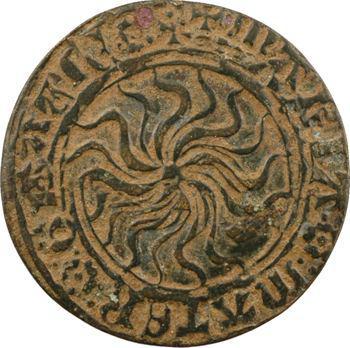 Moyen-Âge, jeton de compte à l'astre ou au soleil, s.d