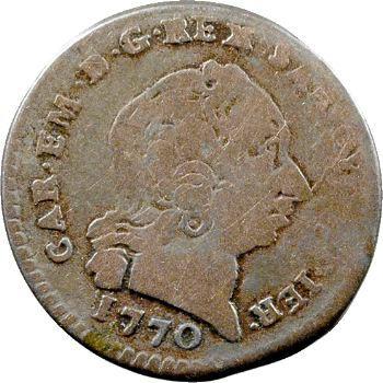 Savoie (duché de), Charles-Emmanuel III, demi-réal pour la Sardaigne, 1770 Turin