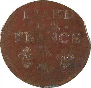 Louis XIV, liard de cuivre 3e type, 1693 Amiens