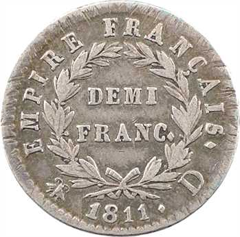 Premier Empire, demi-franc Empire, 1811 Lyon