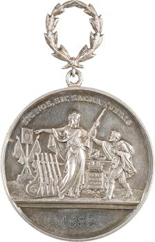 IIIe République, médaille de tir, par Blondelet, 1883 Paris