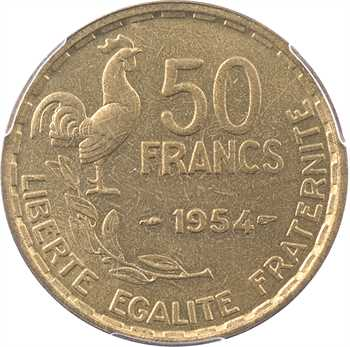 IVe République, 50 francs Guiraud, 1954 Paris, PCGS MS64