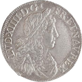 Louis XIV, demi-écu au buste juvénile, 1re effigie, 1662 Rouen