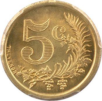 Algérie, Chambre de Commerce d'Oran, 5 centimes, 1921 PCGS SP65
