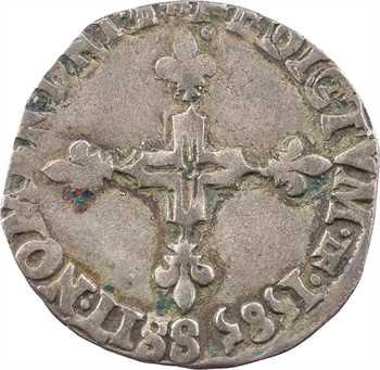 Henri III, double sol parisis, 2e type, 1585 Troyes