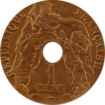 Indochine, 1 centième, coque CCCS MS64, 1923 Poissy