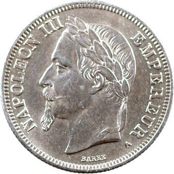 Second Empire, 2 francs tête laurée, 1869 Paris