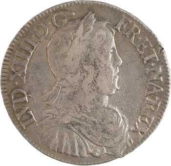 Louis XIV, demi-écu à la mèche longue, 1652 La Rochelle