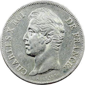 Charles X, 5 francs 2e type, 1827 Nantes
