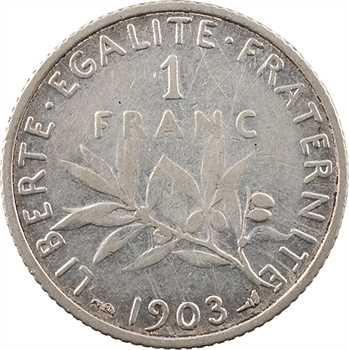 IIIe République, 1 franc Semeuse, 1903 Paris
