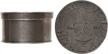Louis XIV (?), treizain de mariage, boîte en argent et treize deniers bractéates, s.d
