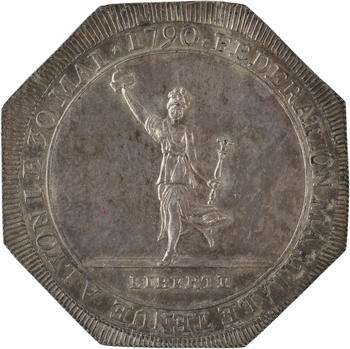 Constitution, Fédération martiale de Lyon, insigne, 30 mai 1790
