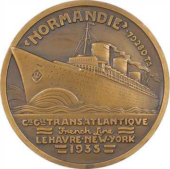 Compagnie Générale Transatlantique : le paquebot Normandie, par Jean Vernon, 1935 Paris