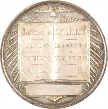 Second Empire, médaille du baptême à la confirmation de Blanche de Navailles, 1853-1866 Paris