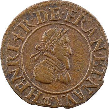 Henri IV, denier tournois, 1590 Châlons-en-Champagne