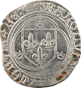Charles VIII, blanc à la couronne (molettes/points et REX:), Châlons-en-Champagne