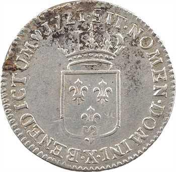 Louis XV, sixième d'écu de France, 1721 Amiens