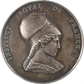 Louis-Philippe Ier, Institut Royal de France, médaille d'argent, architecture, Auguste Caristie, s.d. Paris