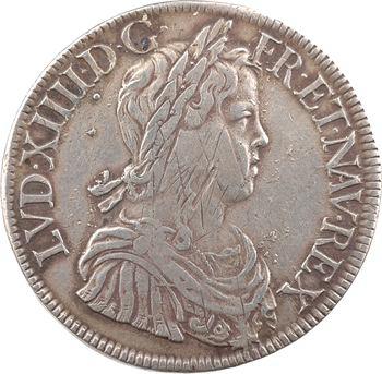 Louis XIV, écu à la mèche longue, 1652 Paris