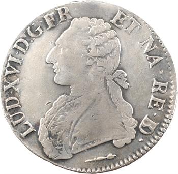Louis XVI, écu aux branches d'olivier du Béarn, 1786 Pau