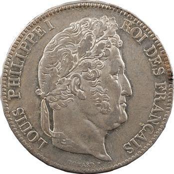 Louis-Philippe Ier, 5 francs IIe type Domard, 1838 Paris