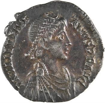 Valentinien II, silique, Milan, 384-385