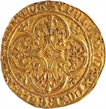 Charles VI, écu d'or à la couronne 3e émission, Villeneuve-lès-Avignon