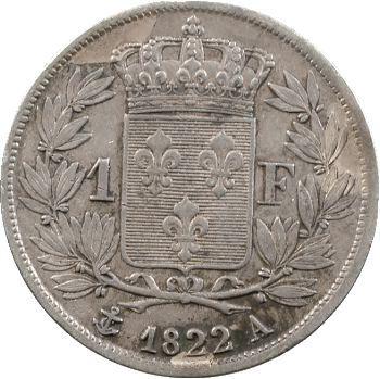 Louis XVIII, 1 franc, 1822 Paris