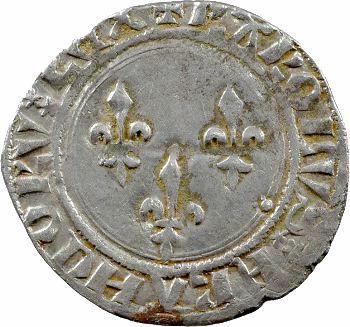 Charles VII, blanc aux trois lis 1re émission, Angers