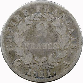Premier Empire, 2 francs Empire, 1811 Paris