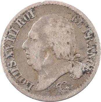Louis XVIII, 1/4 de franc, 1823 Toulouse