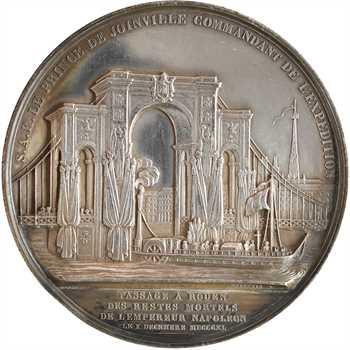 Louis-Philippe Ier, le retour des cendres, passage à Rouen, par Depaulis, en argent, 1840 Paris