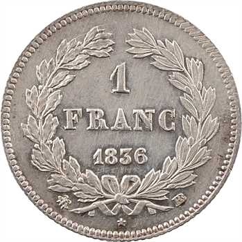 Louis-Philippe Ier, 1 franc, 1836 Strasbourg
