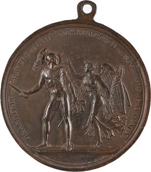 Premier Empire, prix de gravure en médailles à Gatteaux, fonte uniface, 1809 Paris
