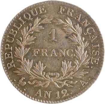Consulat, 1 franc, An 12 Paris