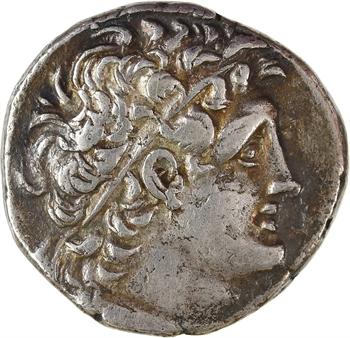 Égypte, Ptolémée IX Soter et Cléopâtre III, tétradrachme, Alexandrie, RY 9 (109-108 av. J.-C)