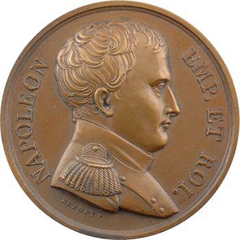 Royaume-Uni, Napoléon en exil à bord du Bellérophon, par Brenet, 1815 Paris (refrappe)