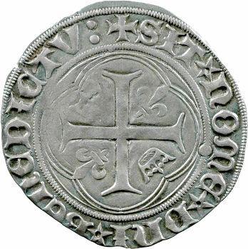 Charles VIII, blanc à la couronne, couronnelles renversées, Tours
