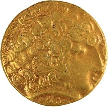Aulerques Éburovices, hémistatère au loup, c.IIe-Ier siècle av. J.-C