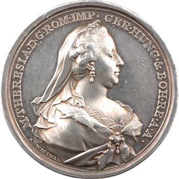 Autriche, Marie-Thérèse, rétablissement de l'impératrice atteinte de la petite vérole (variole), par Wideman, 1767 Vienne